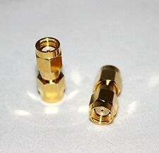 1x RP-SMA male to RP-SMA male RF coaxial adapter (US Stock; Fast Ship)