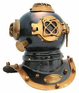 """Antique Brass Divers Diving Helmet Nautical Collectible Desk Decorative 7"""" Decor"""