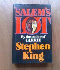 STEPHEN KING SALEM'S LOT - TRUE 1st UK HARDBACK 1976 (NOT BCA or RE-PRINT) FINE