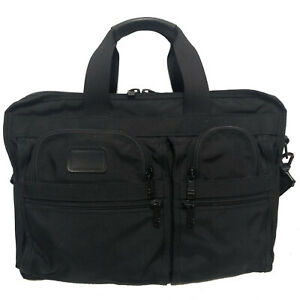 $525 Vintage TUMI Alpha Black Ballistic Nylon Expandable Briefcase - U.S.A.