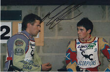 PAUL COOPER HAND SIGNED SCUNTHORPE SCORPIONS SPEEDWAY 6X4 PHOTO 12.
