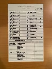 Ryan Braun Rookie League Lineup Card Helena Milwaukee Brewers 7-4-05