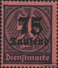 Deutsches Reich D91 geprüft gestempelt 1923 Hochinflation
