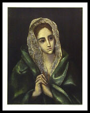 Domenico El Greco Mater Dolorosa Poster Bild Kunstdruck im Alu Rahmen 71x56cm