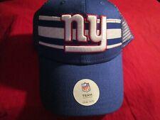 New York Giants NFL Team Blue Red White Mesh Baseball Hat Cap