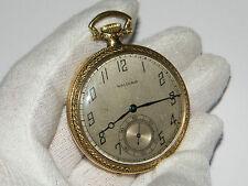 Waltham,Mass,Open Face,Taschenuhr,Pocket Watch,TU,Montre,Orologio,RaRe!
