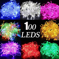 100 LEDs Waterproof strip Christmas Tree Fairy String Party Lights Lamp Xmas