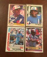 TIM RAINES Lot B (33 cards) 1982 1983 1984 1985 1986 Topps Fleer Donruss - HOFer