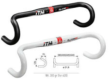 ITM ALCOR 80 OVERSIZE  31.8mm  HANDLEBAR BAR   WHITE 44cm