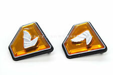 New Left Right Side Cover Emblems Orange 72-76 Honda CB750 K 750 Four  #Z34