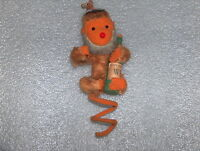 VINTAGE PLUSH OR MOHAIR TOY - MONKEY WITH BOTTLE WHISKY
