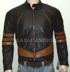 X-Men Wolverine Logans XO Real Leather Jacket Biker Style BNWT