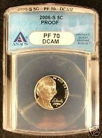 2006-S ANACS PR70 Silver Proof Set 10 Coin lot