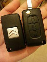 Coque clé plip clef télécommande pour Citroën C4  avec le logo Citroën sr le dos