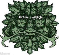 """GREEN MAN Embroidered PATCH 8.5cm x 9cm (3 1/4"""" x 3 1/2"""") approx"""