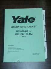 Yale Lift Truck Literature Packet Model GC 070-80 LJ, GC 100-120 MJ (D818)