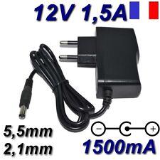 Adaptateur Secteur Alimentation Chargeur AC DC 220V 12V 1,5A 1500mA 18W 5,5mm