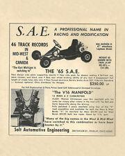 Vintage 1965 S.A.E. (Solt) Racing Go-Kart Ad