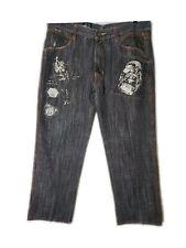Delf Men's Painted Denim Jeans Street wear Size 38x32