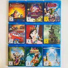 Disney Blu Ray Sammlung Tarzan Rapunzel Cars Pocahontas Oz Mulan Tinkerbell