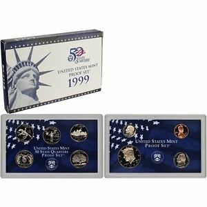 1999-S Proof Set United States US Mint Original Government Packaging Box & COA