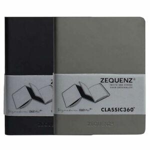 Zequenz Notebook DUO Plus+ A5, Ruled/Blank, Gray/Black (360-DPJ-A5-GRR-BKB)