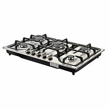 """METAWELL 30"""" Stainless Steel 5 Burner Built-in Stoves Natural Gas Hob Cooktops"""