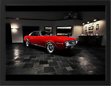 "PONTIAC FIREBIRD 1967 A3 FRAMED PHOTOGRAPHIC PRINT 15.7""x11.8"""