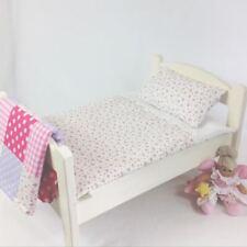 DOLLS BED PRAM/COT BEDDING SET ~ WHITE ROSE ~  BABY ANNABELL/BORN