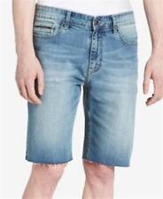 Calvin Klein 10.5 Inch Stretch Cutoff Shorts Silver Bullet Mens Size 30 New