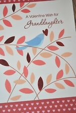 Bella Greetings Card #11658 VGDA -A Valentine Wish for Granddaughter - NEW