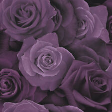 Arthouse Purple Roses Flower Wallpaper 3D Heavyweight Modern Floral Flowers
