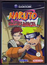 Gamecube choque De Ninja Naruto versión europea (2006) UK PAL, francés boxtext