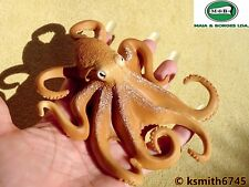 M&B OCTOPUS solid plastic toy wild zoo animal marine sea predator * NEW *💥