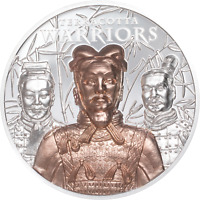 2021 Cook Islands $20 Terracotta Warriors 3 oz .999 Silver Coin - 500 Made