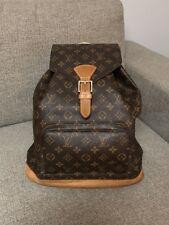 Authentic LOUIS VUITTON Montsouris GM Backpack Monogram