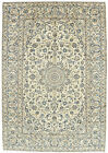 Vintage Persìan Kashàn 8' x 11' Ivory Wool Hand-Knotted Oriental Rug