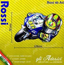 Adesivo Moto Rossi caricatura stickers carene casco 12 x 7 cm