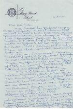 JOHN ANDERSON-ILLINOIS CONGRESSMAN-PRESIDENT-HAND WRITTEN/SIGNED 1992 LETTER