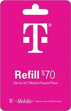 T-Mobile  Prepaid $70 Refill Top-Up Prepaid Card, Fast service!