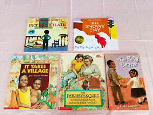 Lot of 5 African American Children's Picture Story Books (pb)...Free Ship