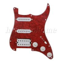 3-ply Pickguard Collulose Wired Guitar Plate for Bass Electric guitar Cool Red