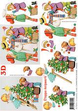 3D Bogen Motivbogen Etappenbogen Grußkarte Kinder im Winter (290) Weihnachten