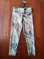 NWT New TEREZ S Small Purple Amethyst Ocean Waves Legging Pant USA Made NYC