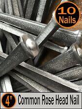 "(10) 4"" - COMMON ROSE HEAD NAIL  - Antique Vintage Rustic Nails - 20d"