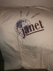 Vintage 1996 Janet Jackson FOJ Tee Shirt from Fan club. Blk To Go up Soon.
