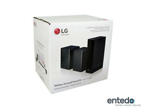 LG SPK8-S Wireless Rück Lautsprecher für SK10Y, SK9Y, 2019 SL Serie Schwarz Neu