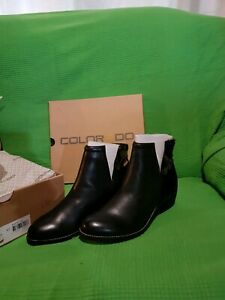 NEW Colorado Leather Black Ankle boots . RRP$149.Size 40