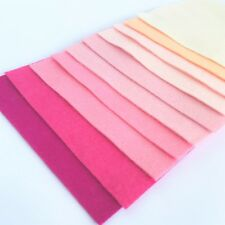 Wool Mix 9 inch Felt Squares x10 Girls Pinks Bundle - Soft Craft Felt!!