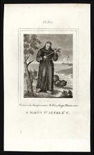 santino incisione 1800 S.DIEGO D'ALCALA'